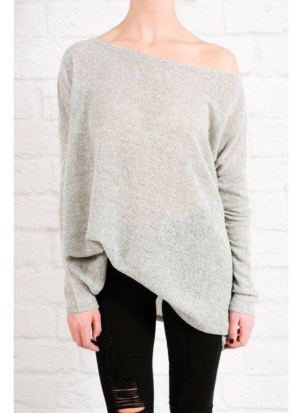 Sweater Favorite grey boxy knit