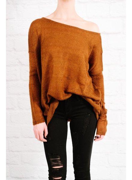 Sweater Favorite rust boxy knit