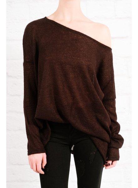 Sweater Favorite black boxy knit