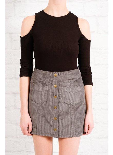 Skirt Grey corduroy mini skirt