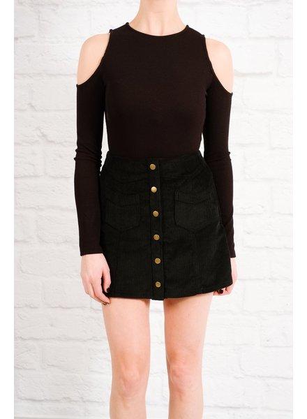 Skirt Black corduroy mini skirt