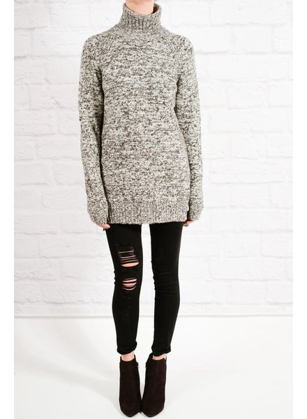 Sweater Speckled side slit sweater