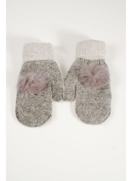 Gloves Mohair charcoal mittens