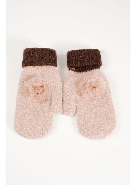 Gloves Mohair tan mittens
