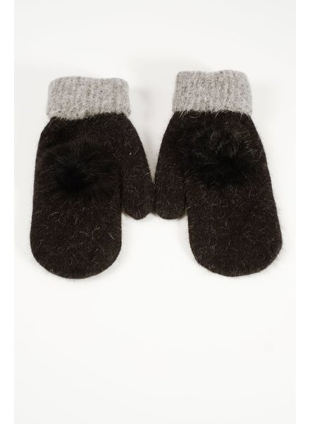Gloves Mohair black mittens
