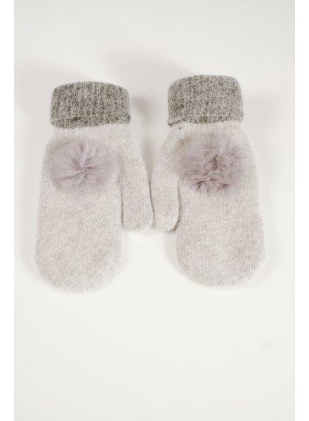 Gloves Mohair light grey mittens