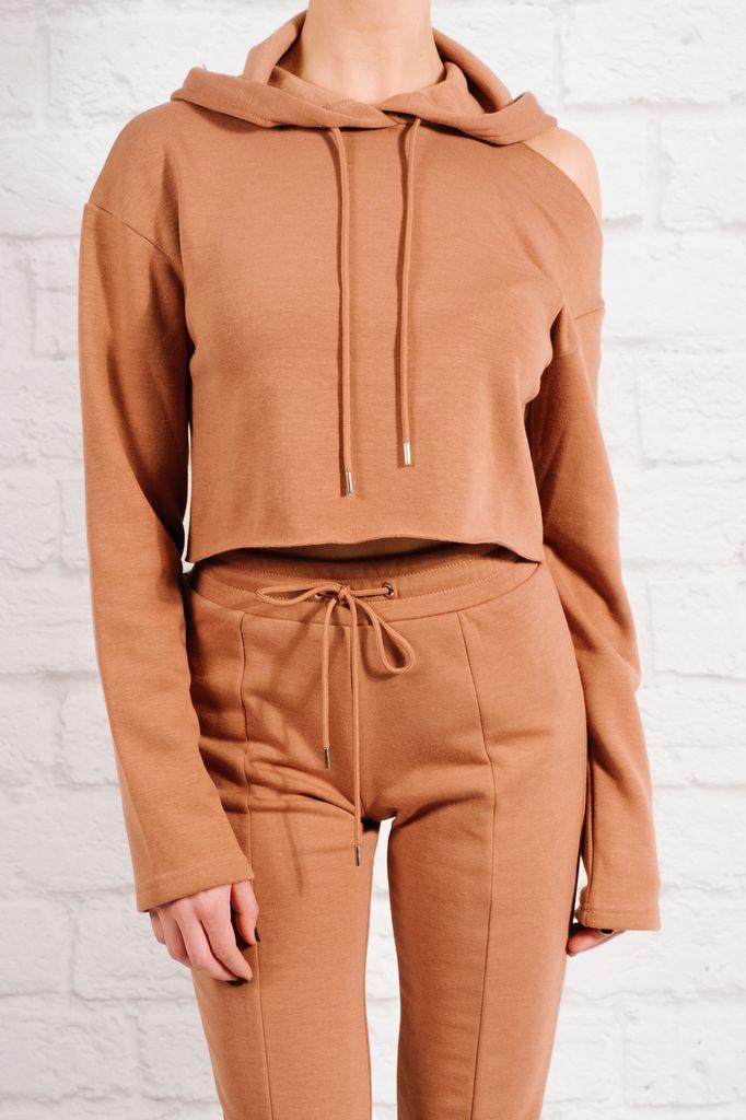 Sweatshirt Single cold shoulder sweatshirt