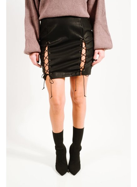 Skirt Vegan leather laced skirt