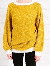 Sweater Mustard speckled knit