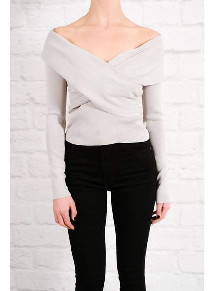 Blouse Fitted cross front top