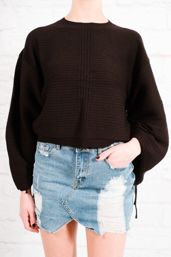 Knit Scrunch sleeve top