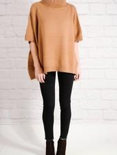Sweater Burnt orange poncho