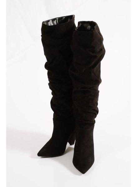 Boot Black scrunch boots