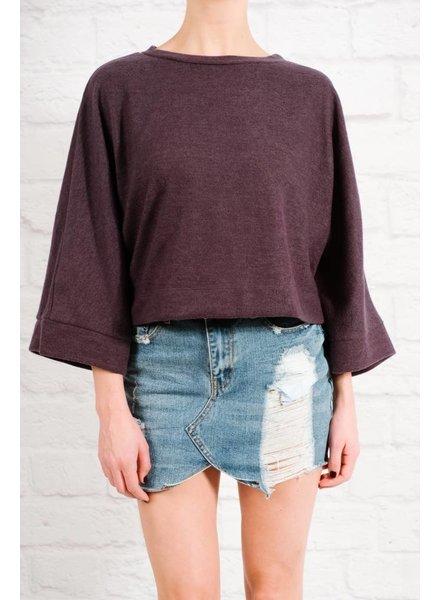 Sweater Navy fleece top