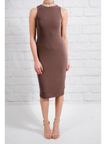 Midi Grey knit midi dress