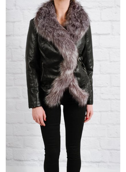 Leather Fur lined leather jacket