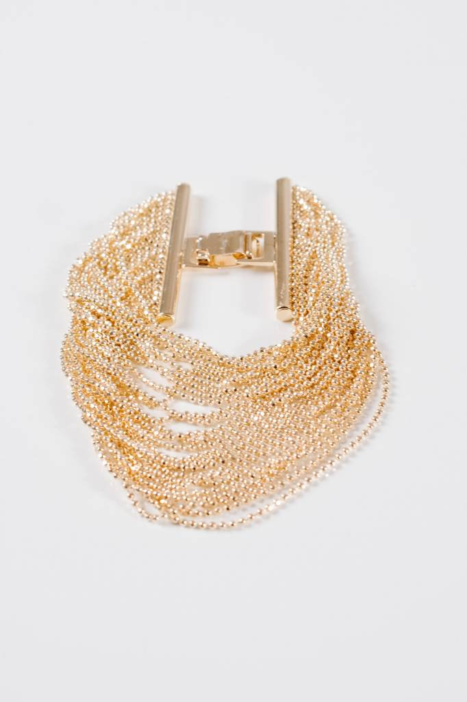 Gold Fluid strand bracelet
