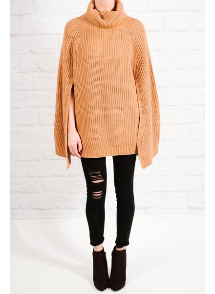 Sweater Burnt orange cape