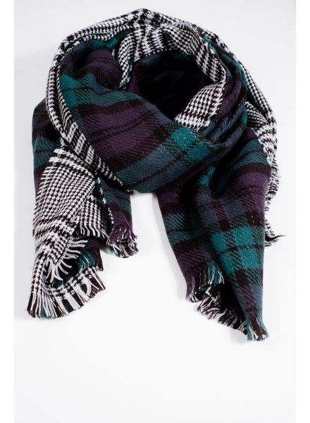 Scarf Double sided tartan scarf
