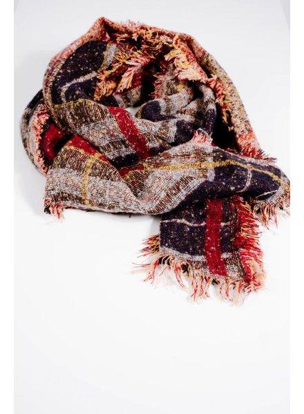 Scarf Retro block print scarf
