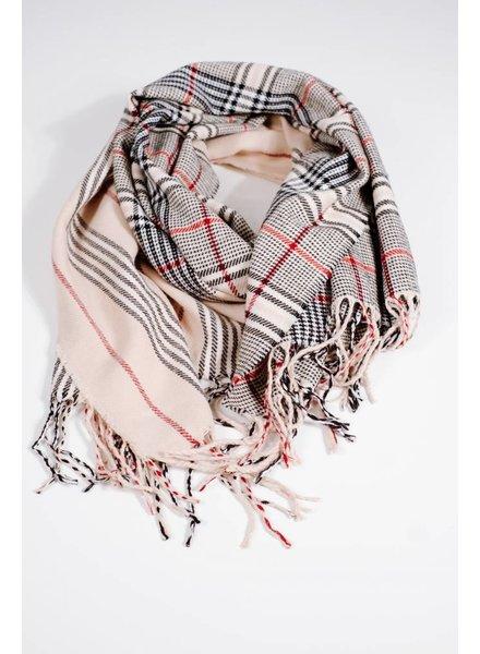 Scarf Half and half classic plaid scarf