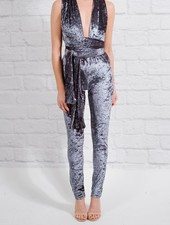 Dressy Multi-way velvet jumpsuit