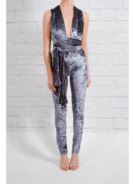 Dressy Multi-way velvet jumpsuit