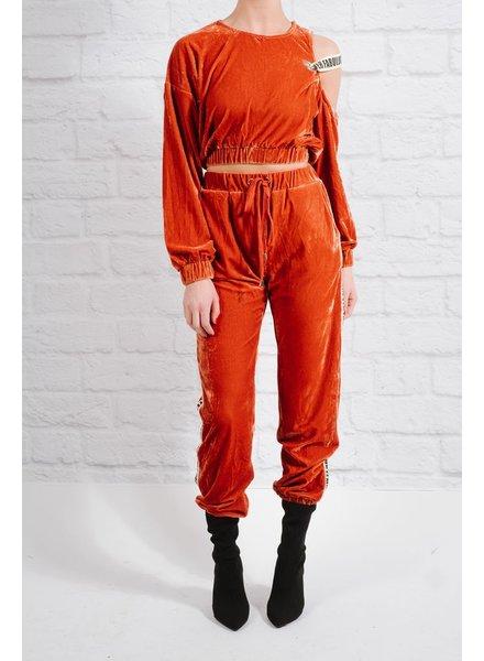 Pants Coordinating velvet jogger pants