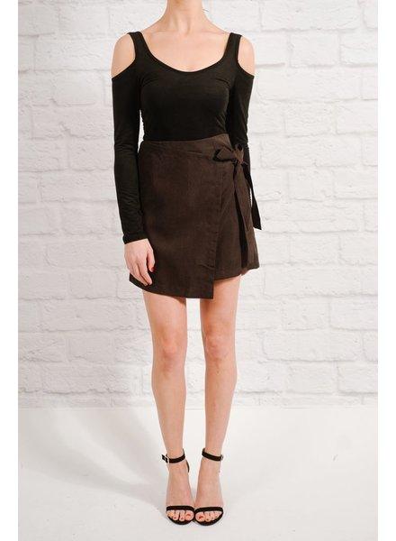 Skirt Black side tie mini