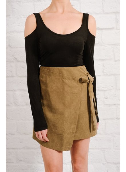 Skirt Olive side tie mini