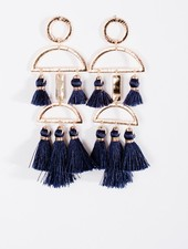 Trend Navy tassel trend earrings