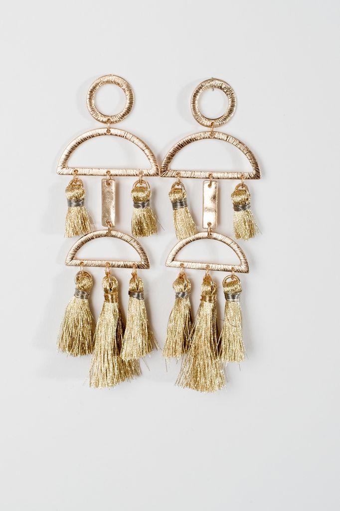 Trend Gold tassel trend earrings