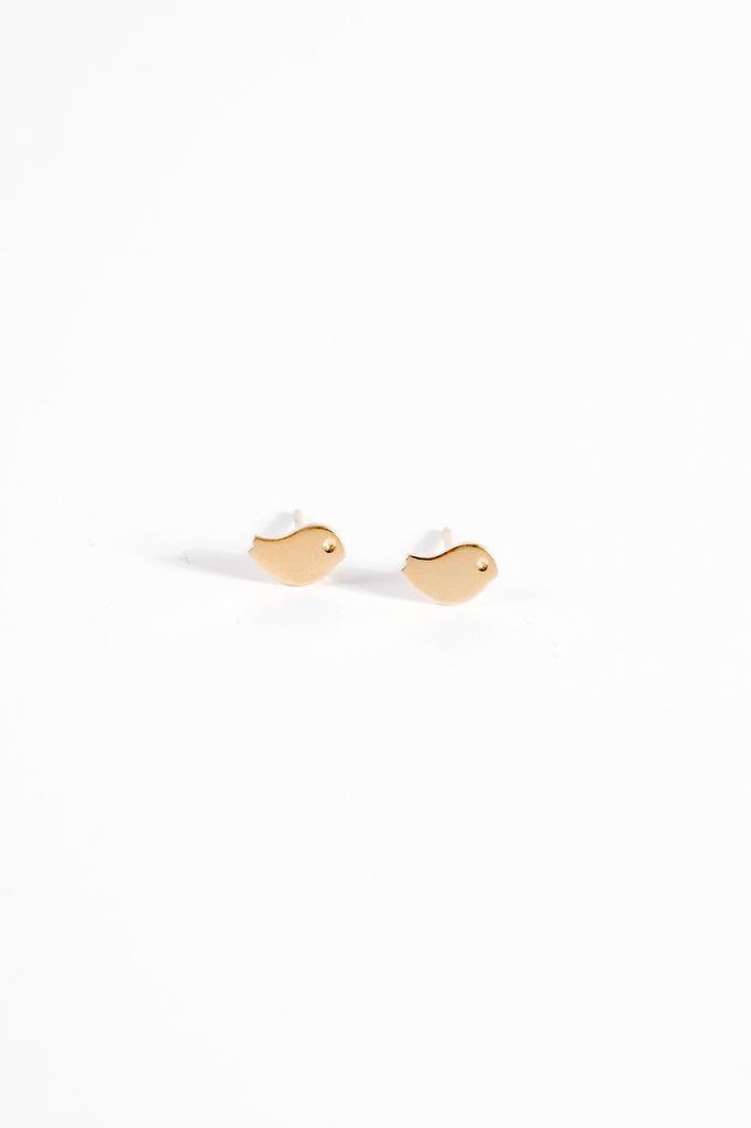 Sterling Gold chick studs
