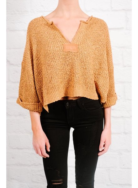 Sweater Camel boxy crop knit