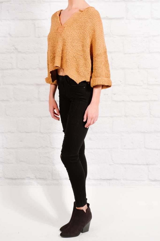 Sweater Camel boxy crop knit
