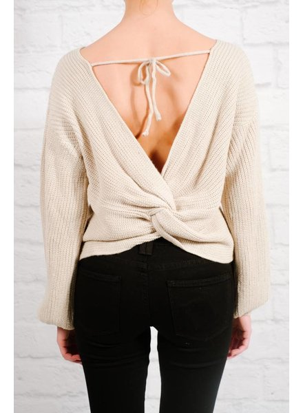 Sweater Bone twist back sweater