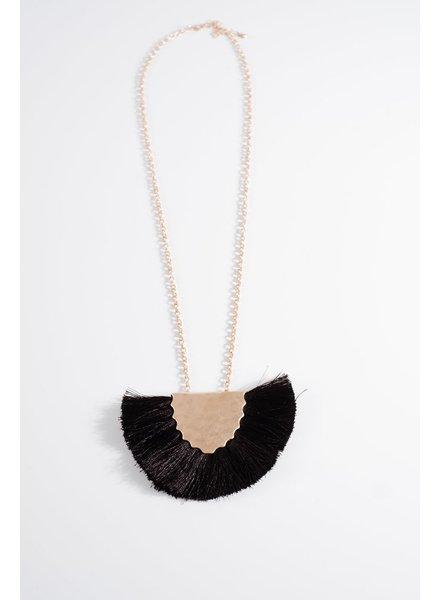 Trend Black fringe trend necklace