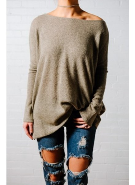Sweater Favorite khaki boxy knit