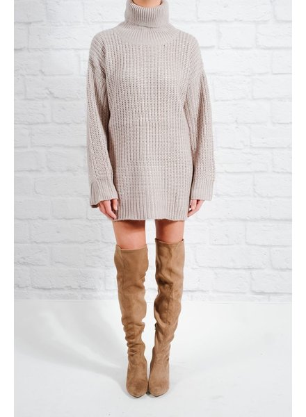 Tunic Grey knit sweaterdress