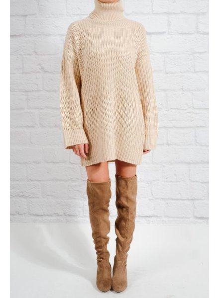 Tunic Bone knit sweaterdress
