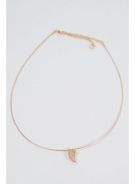 Choker Embellished horn wire choker
