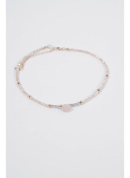 Choker Light pink stone beaded choker
