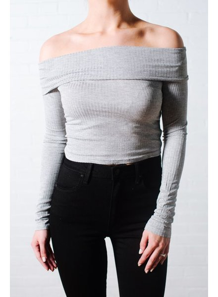 Crop OTS ribbed crop *BACK IN STOCK!