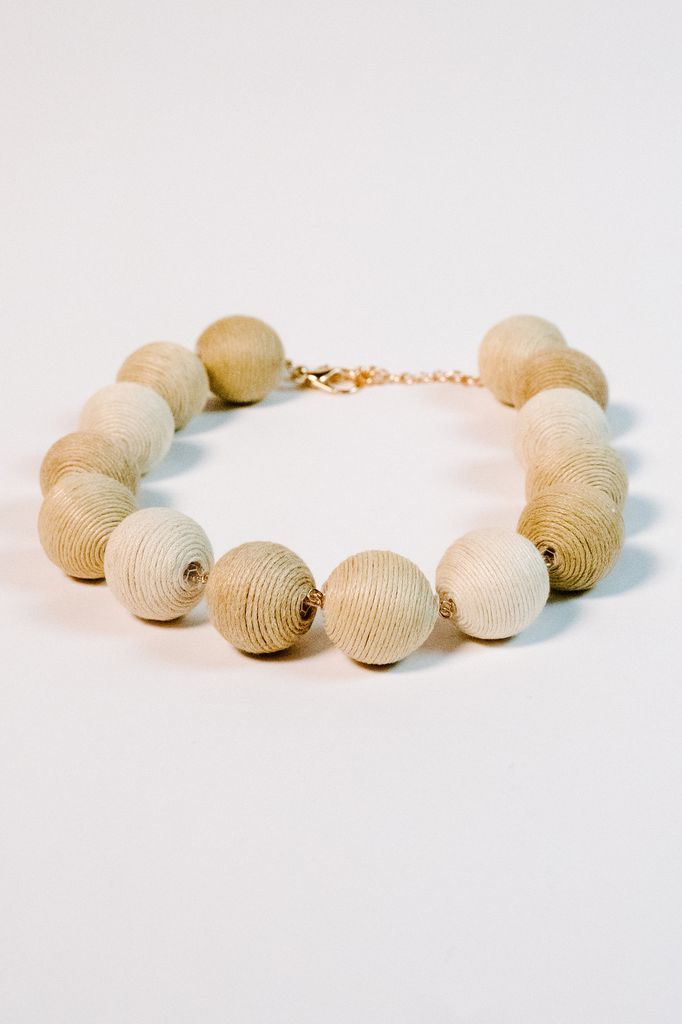 Trend Natural thread ball necklace
