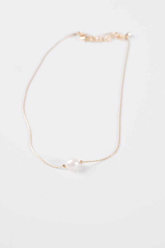 Gold Mini pearl gold choker