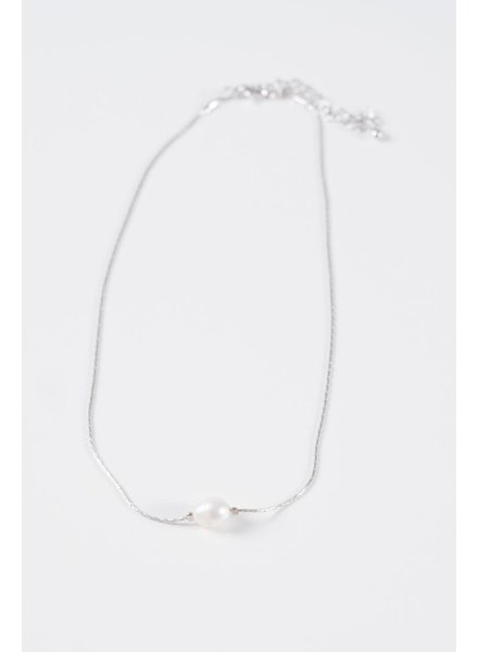 Gold Mini pearl silver choker