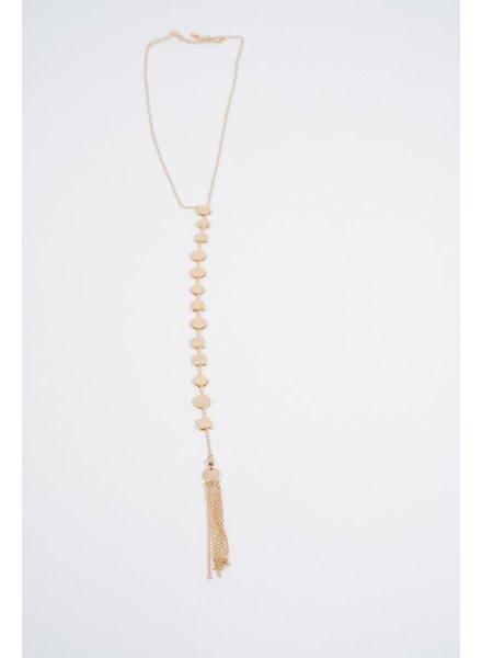 Long Geo Y necklace