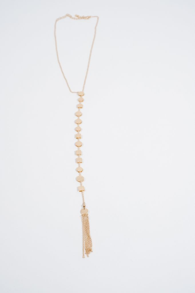 Long Geo Y necklace