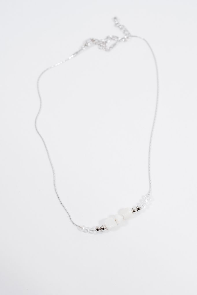 Choker Beaded rock silver choker