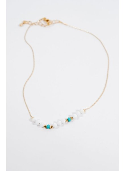 Choker Multi beaded gold choker